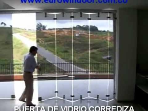 Puerta de vidrio corrediza cali colombia youtube - Puertas corredizas de vidrio ...