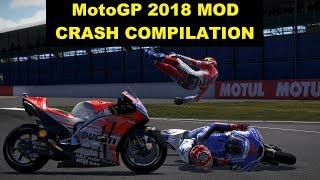MotoGP 2018 Mod   Crash Compilation   PC GAMEPLAY   TV REPLAY MotoGP