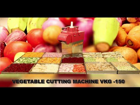 VEGETABLE CUTTING MACHINE (VGK 150) By GLOBAL KITCHEN EQUIPMENT COMPANY,COIMBATORE