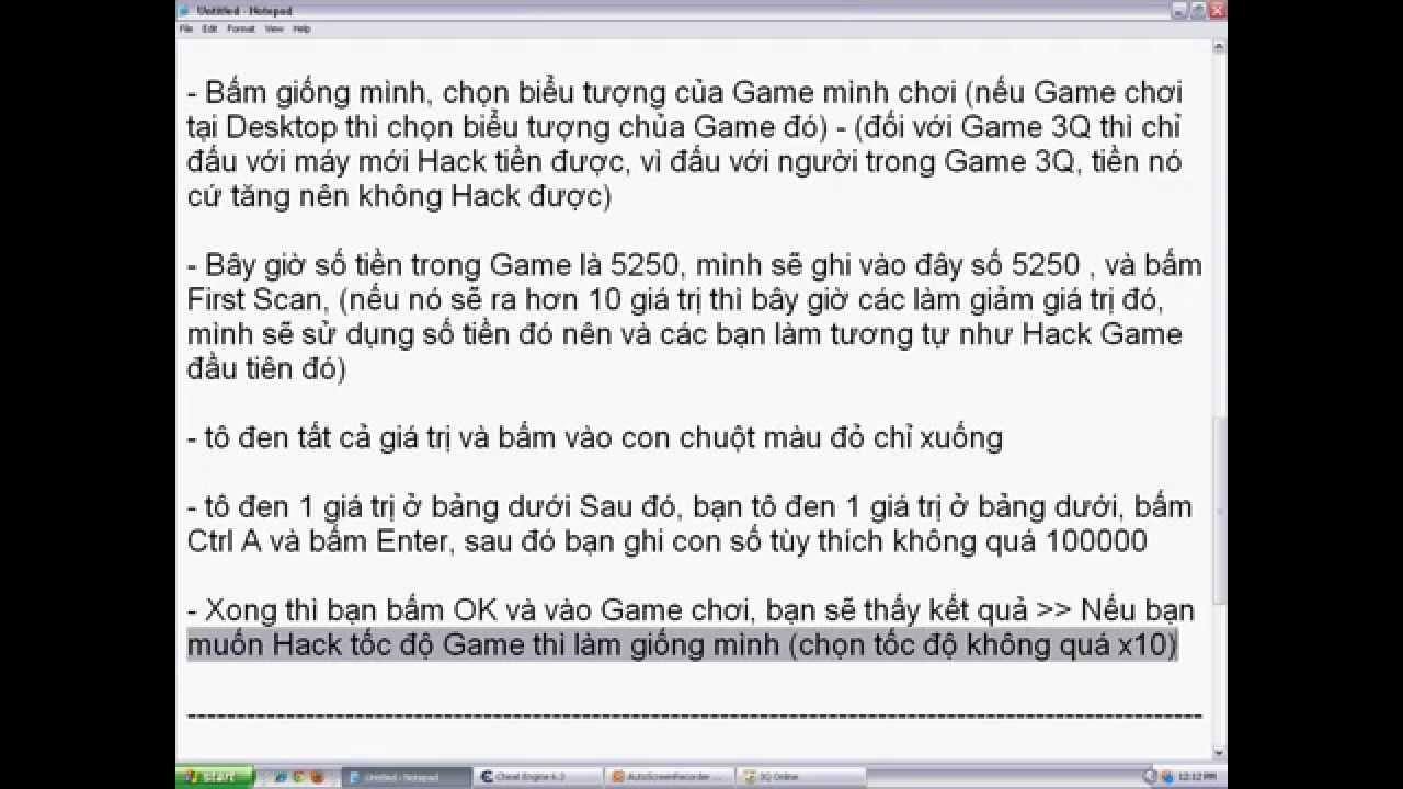 Cách dùng Cheat Engine 6 6, 6 5, 6 4 để thay đổi thông số chơi game