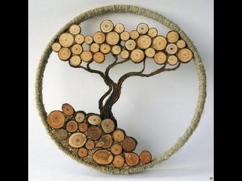 50 идей для декора из спилов дерева