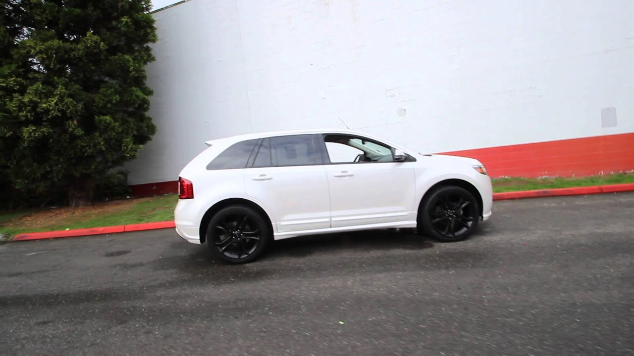 2012 Ford Edge Sport White Platinum Metallic Cba08724