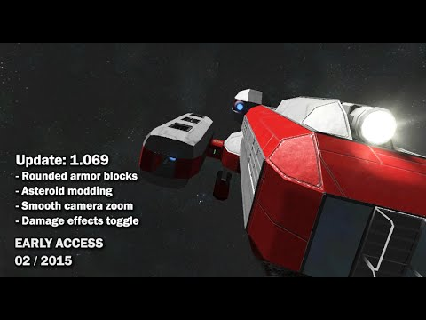 Space Engineers - Update 01.069: New Armor Block Types, Asteroid Modding