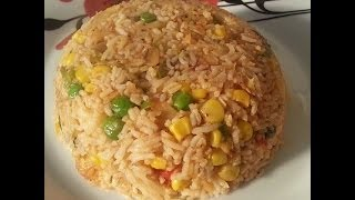 Fried Up Salt Fish With Rice Vegetarian Dish