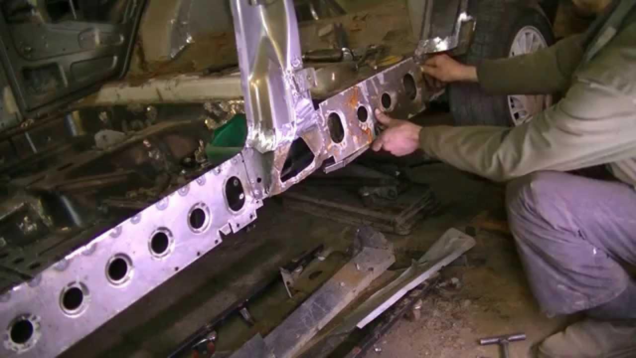 Как увеличить размер  ))) между передними стойками кузова. Кузовной ремонт.BODY REPAIR
