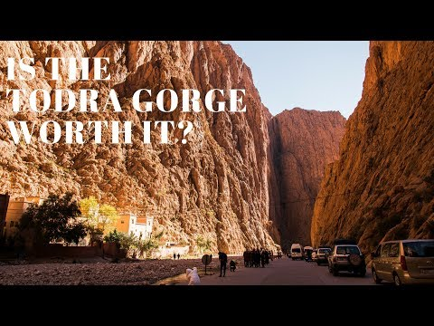 Visiting the TODRA GORGE, MOROCCO