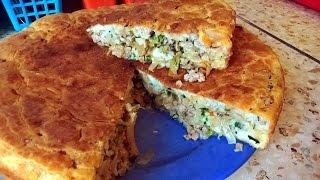Нежный пирог с капустой и мясом Готовим сами!