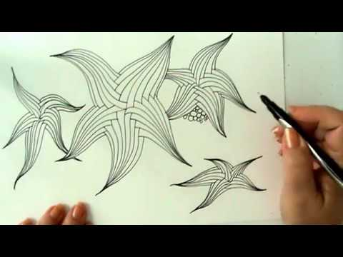 Starfish Picture In Zentangle Style (doodling And Zantangling A Few Starfishes) #4