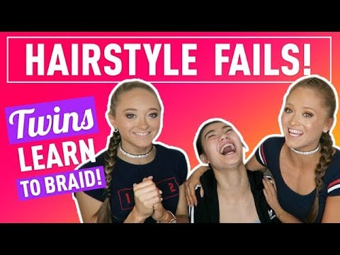 Hairstyle FAIL! Twins Learn To Braid! | The Rybka Twins