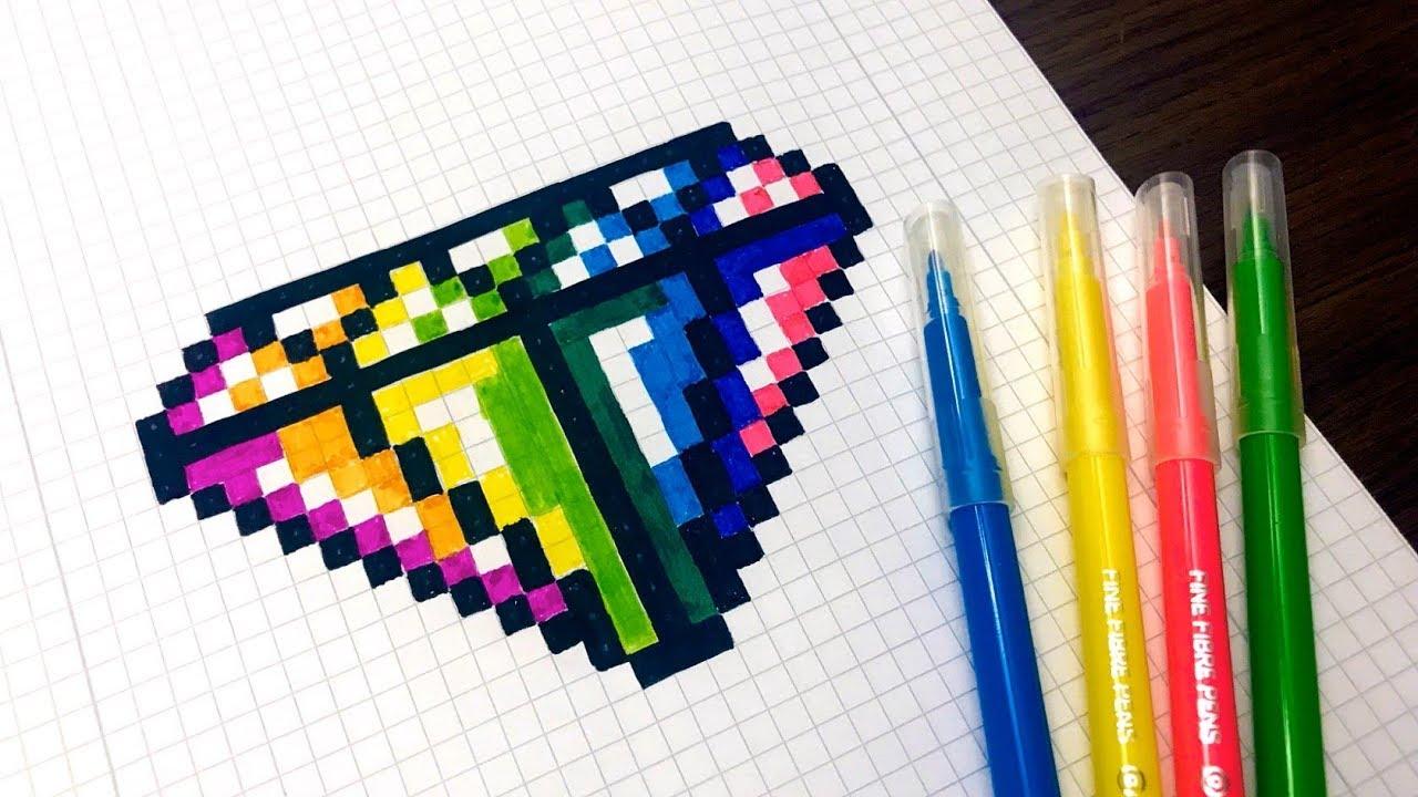 Handmade Pixel Art How To Draw Rainbow Diamond Pixelart