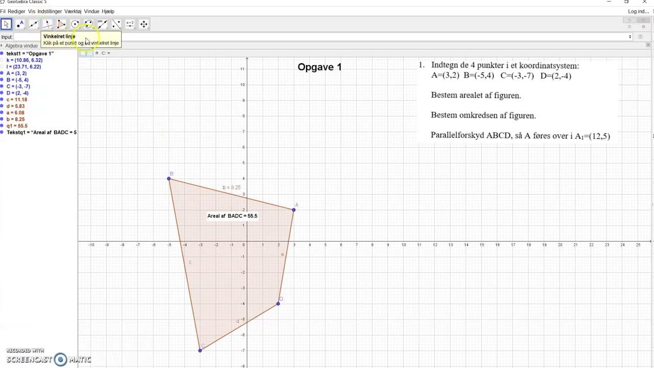 Geometri lektie 2 opgave 1