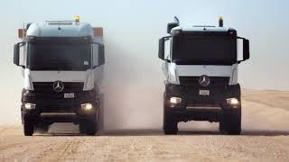 EMC Commercial Vehicles launch the new Mercedes-Benz Arocs and Actros.