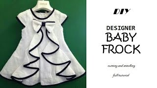 DIY Designer BABY FROCK cutting and Stitching full tutorial\\PN'z World