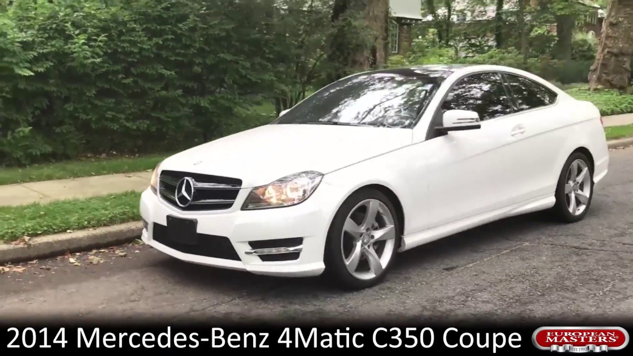 2014 Mercedes Benz 4matic C350 Coupe Youtube