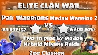 "Clash Of Clans | ELITE WAR - Pak Warriors vs Medan Warriors Z -14 x 3 Stars Attacks ""TH11 vs TH11"""