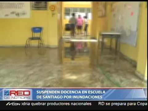 Suspenden docencia en escuela de Santiago por inundaciones