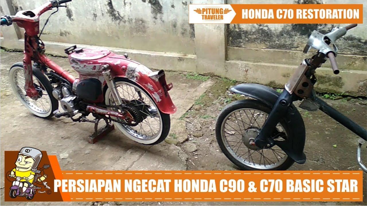 C70RESTORATION Prepare Ngecat Honda C70 Basic Star Honda C90