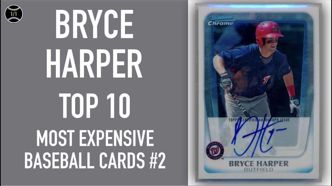 Bryce Harper Top 10 Most Expensive Baseball Cards Sold On Ebay December February 2019