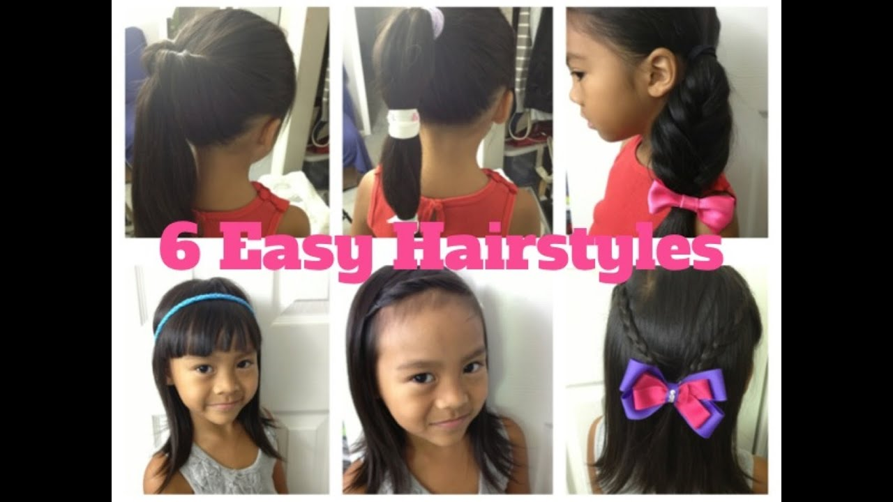 6 Easy & Quick Hairstyles For Girls Episode #3 YouTube