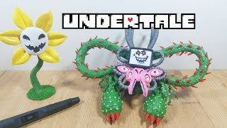 3D Pen | Making Flowey and Omega Flowey | Undertale | 3D printing pen art