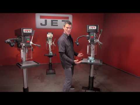 JET Industrial Metal Drill Presses Demo