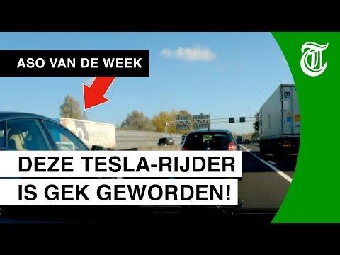 Tesla-rijder gooit beuk erin