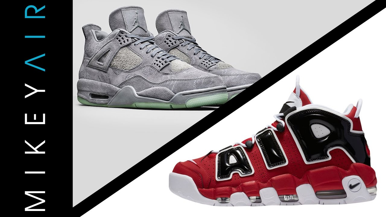 AIR JORDAN 4 KAWS AND NIKE AIR MORE UPTEMPO RELEASE NEWS