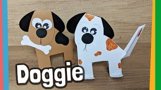 Paper Dog Craft step by step tutorial for kids