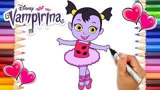 Baby Nosy Ballerina Vampirina Coloring Page | Vampirina Babysitter Coloring  Book | Disney Jr.
