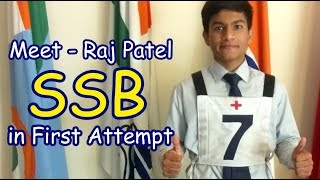 How to crack NDA-  -Meet Raj Patel cleared-ssb crack in first attempt