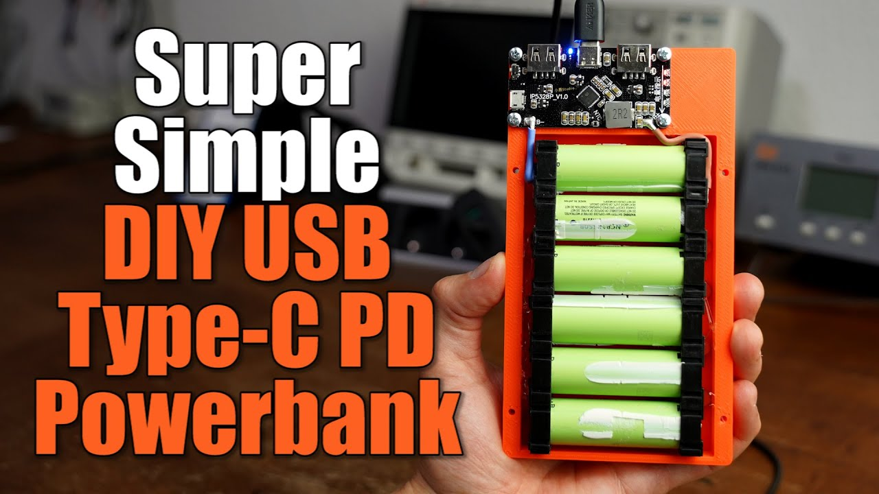 Building a USB Type-C PD Powerbank the Super Simple Way    Testing an Aliexpress PCB!