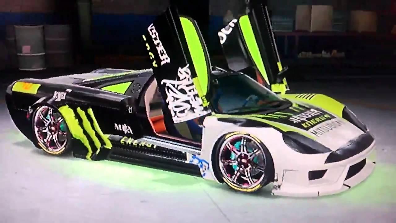 Midnight Club Los Angeles Saleen S7 Monster Energy