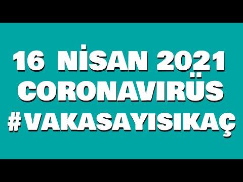 16 Nisan 2021 Güncel Koronavirüs Tablosu | Bugünkü Vaka Sayısı