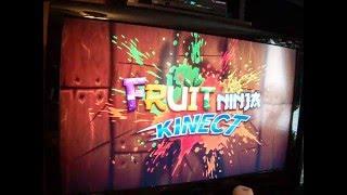 Andrew plays Fruit Ninja Kinect!