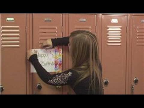School Lockers How to Decorate a Locker for a Birthday YouTube