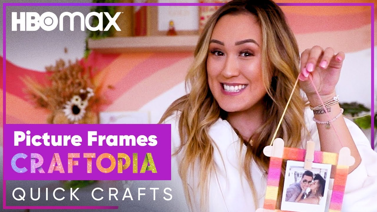How To Make A Cute Picture Frame | Craftopia Quick Crafts | HBO Max Family