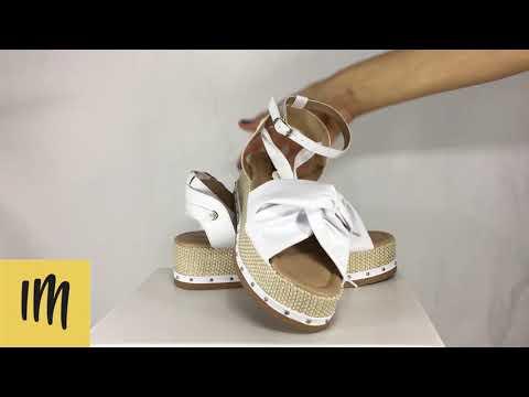 ac4591847 Sandalia Espadrille Flatform Branca - Isabelly Muniz - YouTube