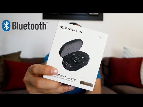 747ba7c3244 True Wireless Earbuds Headphones Bluetooth 5.0 MYCARBON - YouTube