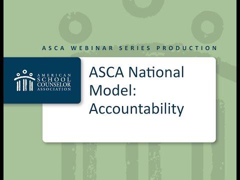 2013 ASCA Webinar Series  ASCA National Model – Accountability