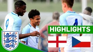 Huge 4-0 win for england | england u20 v czech republic | highlights