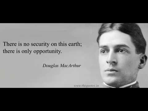 There  is no security, only opportunity