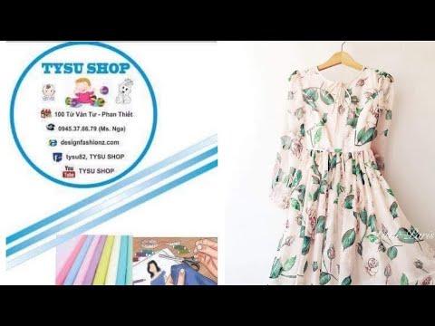 604_thiết Kế Áo Đầm dạy cắt may online miễn phí   sewing online class free   tysu shop