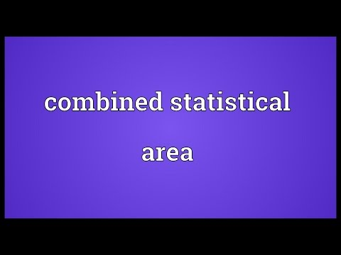 Combined statistical area Meaning