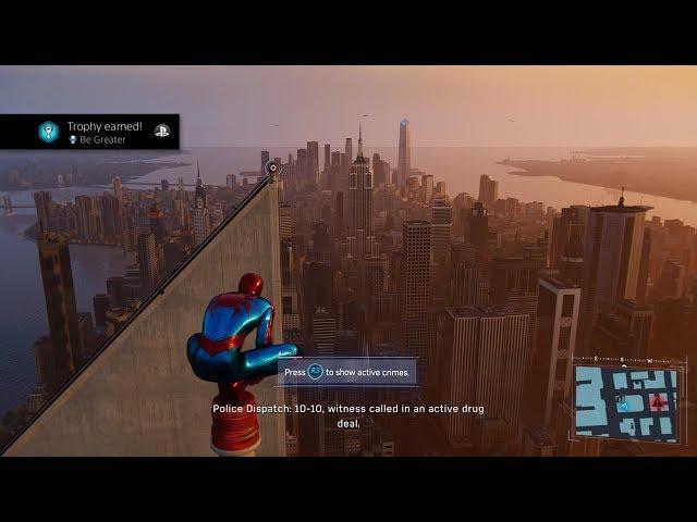 Spiderman Platinum Trophy (Reaction)