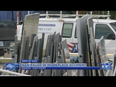 Worker crushed to death by granite slab at Raleigh business