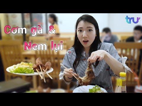 Phản ứng của người Hàn lần đầu ăn cơm gà & nem lụi ?!