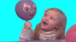 Делаем воздушные шарики с глазками и ручками Make the baloons with eyes and hands