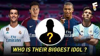 60 Footballers and Their Biggest Idol ⚽ Footchampion