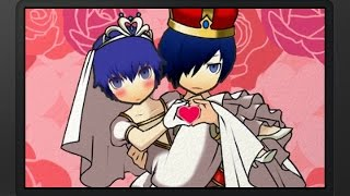 Showing the wedding scene that occurs between the Persona 3 Main Ch...