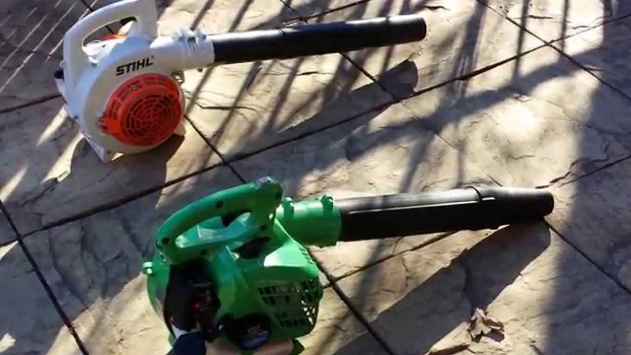 hitachi gas leaf blower. leaf blower review stihl vs hitachi dolmar + shindaiwa 802 backpack - youtube gas